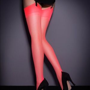 NWT Agent Provocateur Neon Pink S&H Stocking